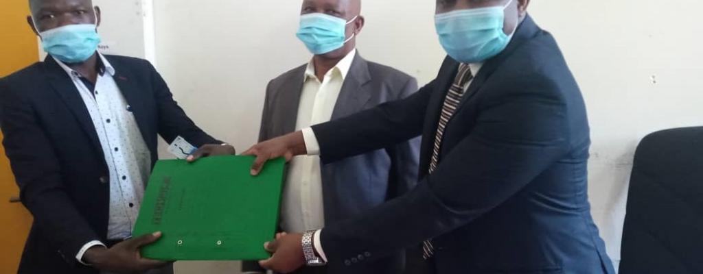Handover of the office of the Medical Superidant Kapchorwa Main Hospital